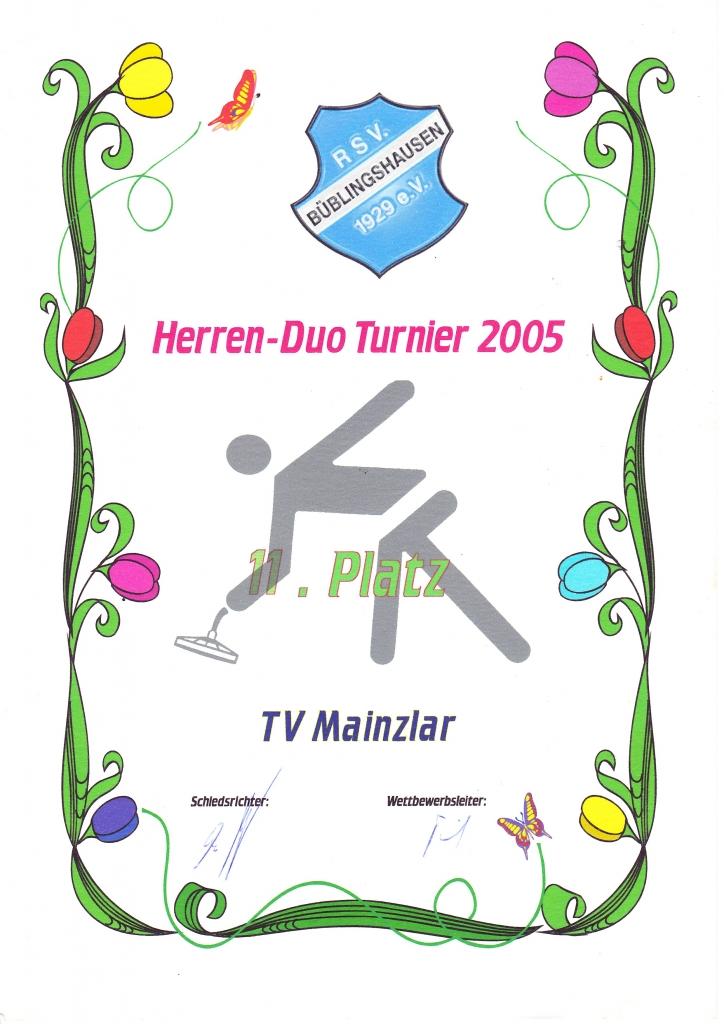 Herren-Duo Turnier in Büblingshausen