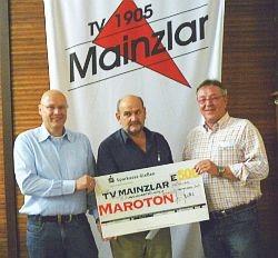 Spende der Firma Maroton GmbH an die Jugendabteilung des TV 1905 Mainzlar