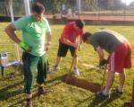Übergabe der neuen Tore auf dem Sportplatz in Mainzlar