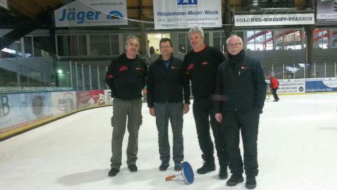 Eisstockschützen des TV Mainzlar mit Platz 11 beim Hasen-Cup zufrieden