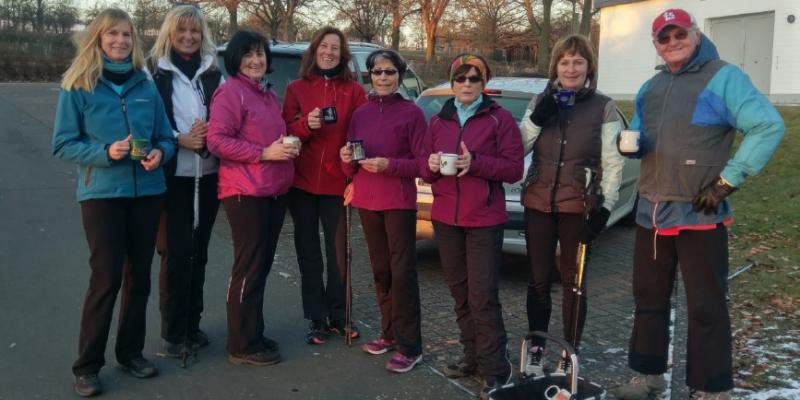 Nordic Walking Gruppe startet bei idealen Bedingungen in das Jahr 2017