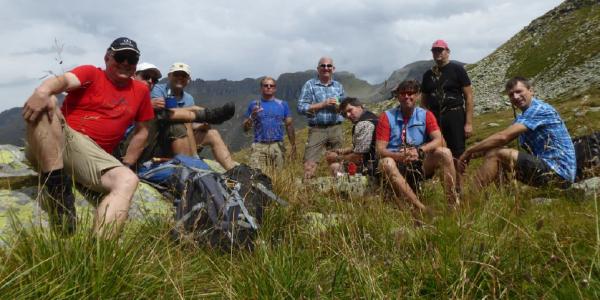 Breitensportgruppe auf Wandertour im Pinzgau, im Salzburger Land