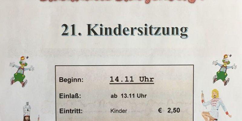 21. Kindersitzung