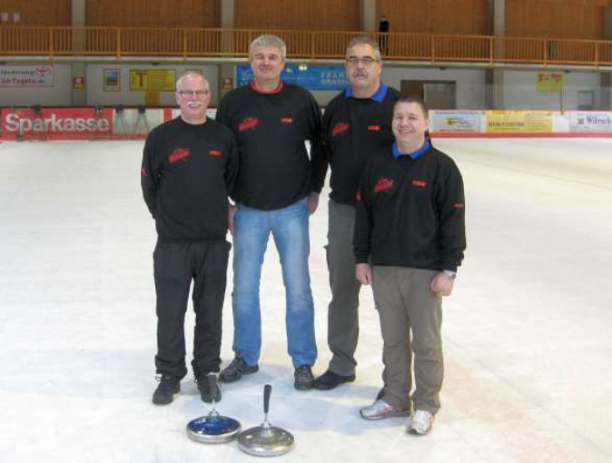 Eisstockschützen des TV 1905 Mainzlar in Berchtesgaden dabei